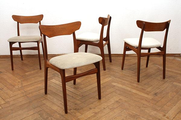 Teak Stühle Von Schionning Elgaard Für Randers Bricklebrit